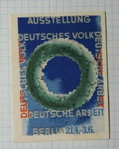 German People Work Exhibition Berlin Exposition Poster Stamp Ads