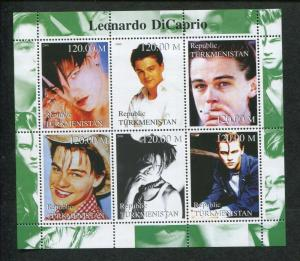 Turkmenistan Commemorative Souvenir Stamp Sheet - Actor Leonardo DiCaprio