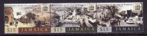 Jamaica-Sc#969-Unused NH strip-Historical views of Kingston-2002-please note the