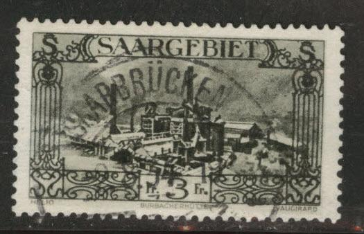 Saar Scott 134 used from 1927-32 stamp set