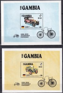 Gambia #628-9 F-VF Unused CV $9.50 (Z5557L)