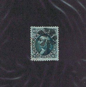 SC# 89 USED, 10 CENT WASHINGTON, 1868, FANCY CANCEL,  2019 PSAG CERT, VERY FINE