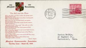 #736 PL#16 1ST MARYLAND COMM ASSOC. & HIST COVER CLUB CACHET FDC BN894