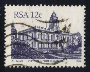 South Africa #579 City Hall, Port Elizabeth, used (0.25)