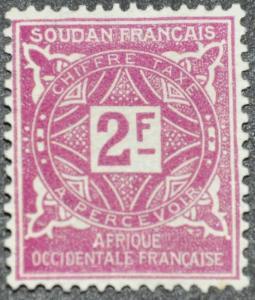 DYNAMITE Stamps: French Sudan Scott #J19 – UNUSED