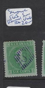 SARAWAK (PP2307B)   6C SG5 CANCEL S IN DIAMOND  IN  VIOLET  VFU