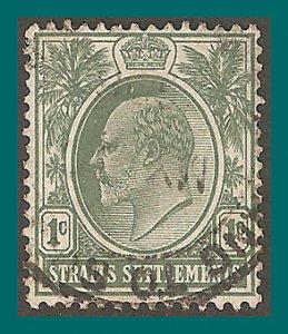 Straits Settlements 1904 King Edward, 1c used  #109,SG127