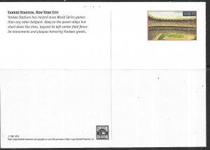 US #ux368  21c Yankee Stadium Postal Card (M) CV $2.00