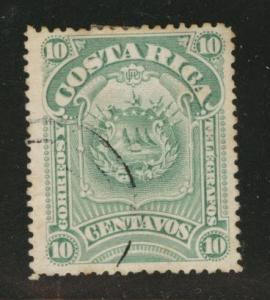 Costa Rica Scott 38 used 1892 stamp perf tips toned