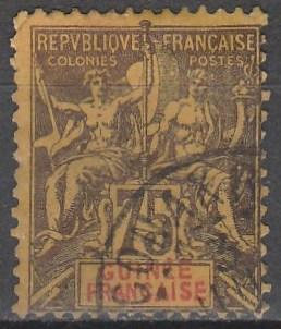 French Guinea #16  Used  CV $47.50 (A12996)