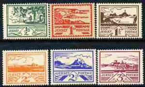Jersey 1943-44 Occupation set of 6 designed by Blampied m...