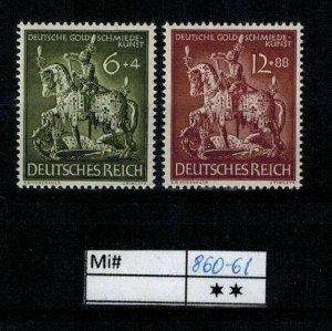 Deutschland Reich TR02 DR Mi 860-61 1939 Reich Postfrisch ** MNH