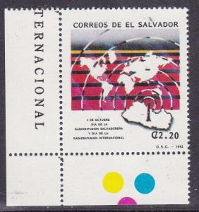 El Salvador 1992 2.2col Association of Salvadoran Broadcasters   VF/NH
