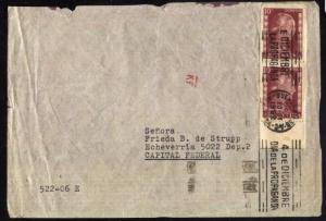 AARG-63 ARGENTINA 1952  COVER EVA PERON ISSUE,METER CANCELATION PROPAGANDA DAY