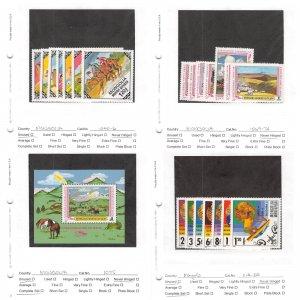 Lot of 55 Mongolia MNH Mint Stamps Scott Range #1040 - 1231 #145366 X R