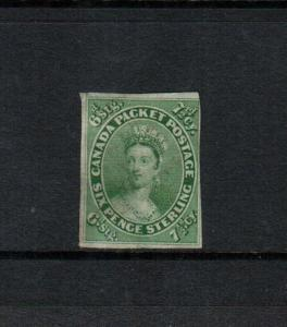Canada #9 Used Fine With Very Light Cancel (Appears Unused) With Trifle Thinning