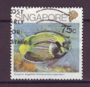 J21428 Jlstamp 1989 singapore a hv of set used #550 fish