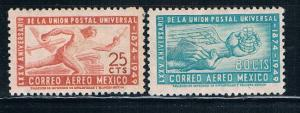 Mexico C203-04 MLH set 75th anniversary of the UPU (M0186)
