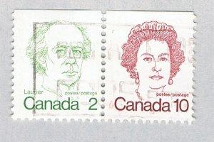 Canada Pair red blue 12c (AP128002)