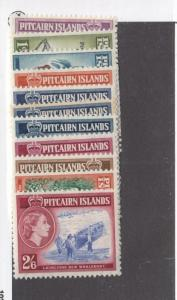 PITCAIRN ISLANDS # 20-30 VF-MH CAT VALUE $52.30
