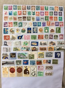 German 100+ stamps - Lot H