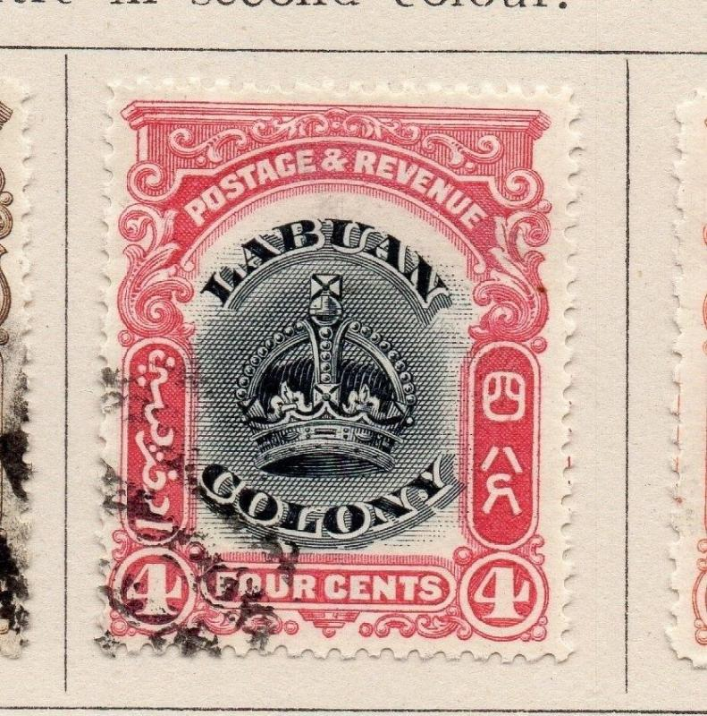 Labuan 1902 Early Issue Fine Used 4c. 206129