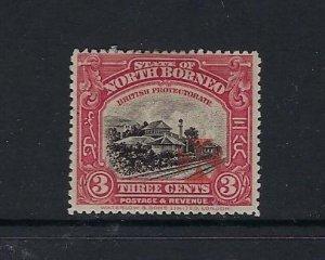 NORTH BORNEO SCOTT #B3 1916 SEMI-POSTAL 3 CENT (DEEP ROSE)- MINT  HINGED