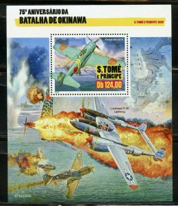 SAO TOME 2020 75th ANNIVERSARY BATTLE OF OKINAWA S/SHEET MINT NEVER HINGED