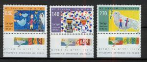 ISRAEL 1977 MNH SC.622/624 Childrens drawings for pace