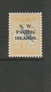 New Guinea 1918/22 Opts 5/- Kangaroo Fresh MM SG 116