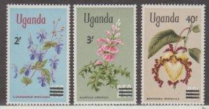 Uganda Scott #130-131-132 Stamps - Mint NH Set