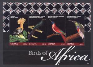 Ghana Sc# 2702 MNH Birds of Africa (M/S)