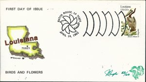 Beautiful Pugh Designed and Painted FDC Louisiana-only 50 created...
