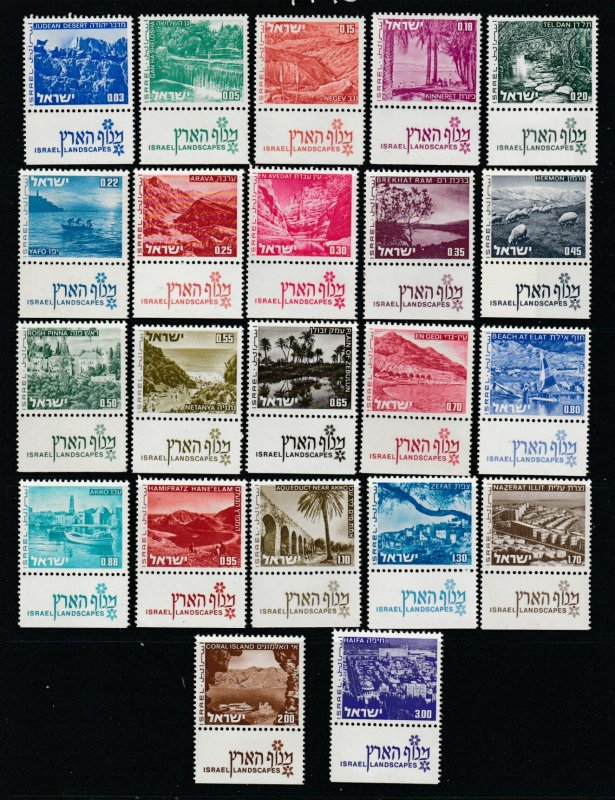 Isael set of landscapes MNH with tabs (missing one)