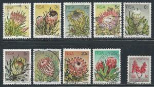 South Africa ~ Lot of 10 Different Stamps ~ Mixed ~ cv 2.00