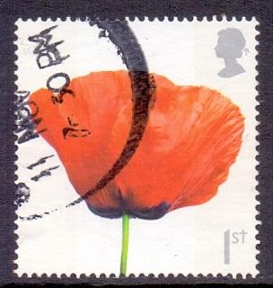 Great Britain 2008 used Armistice  1st  face in poppy    #