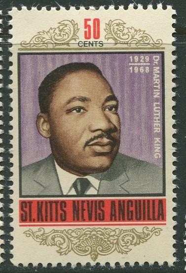 St. KITTS-NEVIS-Scott 190 -Martin Luther King -1968- MNH - Single 50c Stamp