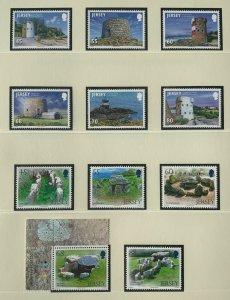 JE78) Jersey 2012 Coastal Towers set of 6 & Archaeology Part III set of 5 MUH