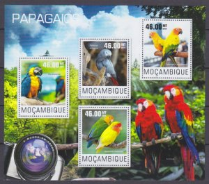 2014 Mozambique 7605-7608KL Birds / Parrots 10,00 €