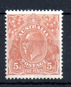 Australia KGV 1926 5d orange brown mint LHM #103A WS13961