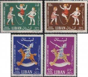 Lebanon C398-C401 (mlh set of 4) Children's Day (1964)