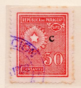 Paraguay 1932 Early Issue Fine Used 50c. Optd C 169919