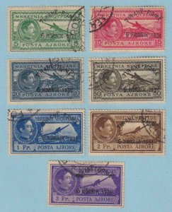 ALBANIA C36 - C42 AIRMAILS  USED - W880