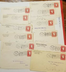 USA Postal Stationery AG25 1905- 1907 Covers used Massachusetts LOT of 25 items