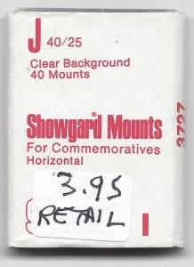 SHOWGARD CLEARBMOUNT J,  40 MM X 25 MM,  RETAIL $3.95