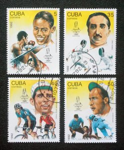 CUBA Sc# 3437-3440  BARCELONA SUMMER OLYMPICS Cpl set of 4  1992  used / cto