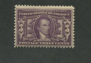 1904 United States Postage Stamp #325 Mint Lightly Hinged Fine Original Gum