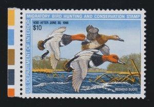 US RW54 $10 Federal Duck Stamp Mint Superb OG NH w/ PSE '98' Cert SMQ $115 (001)