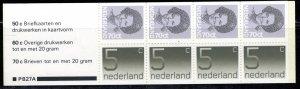 Netherlands Scott # 621a, mint nh, cpl. stamp booklet, se-tenant
