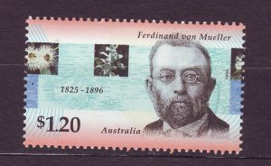 J23760 JLstamps 1996 australia set of 1 mnh #1566 botanist